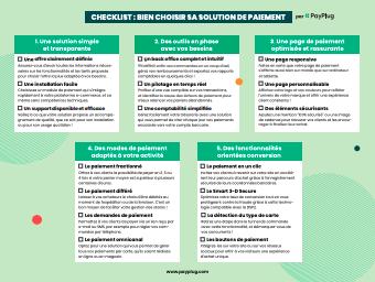 Checklist Paiement